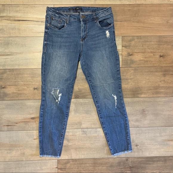 STS Blue Denim - STS Blue Distressed Emma Ankle Skinny Jeans